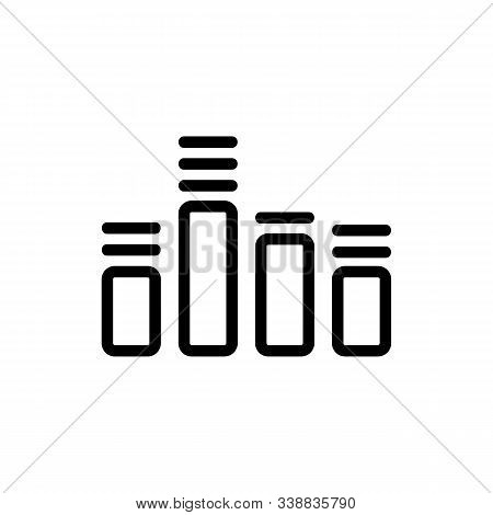 Equalizer Icon Vector. A Thin Line Sign. Isolated Contour Symbol Illustration