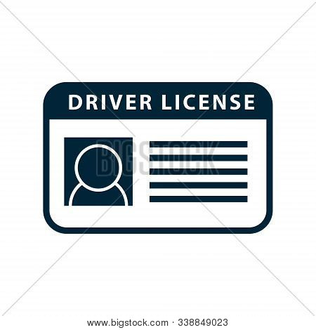 Driver Licence Icon. Vector Driver Id Card License. Drive Identity Photo Identification.