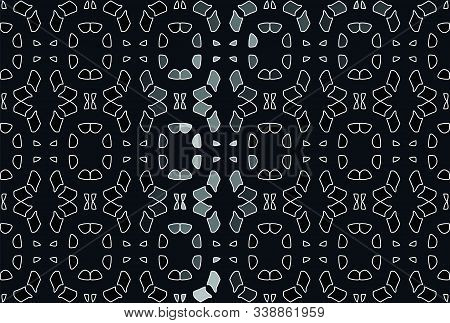Seamless Pattern, Black Floral Illustration Pattern Background