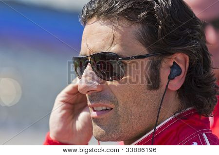 Ft WORTH, TX - JUN 08:  Dario Franchitti (10) prepares to qualify for the Firestone 550 race at the Texas Motor Speedway in Fort Worth, TX on June 08, 2012.