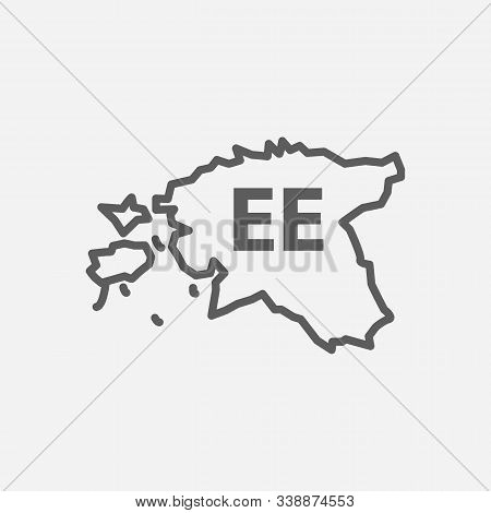 Estonia Icon Line Symbol. Isolated Vector Illustration Of Icon Sign Concept For Your Web Site Mobile