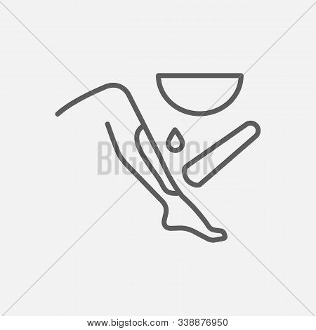 Waxing Icon Line Symbol. Isolated Vector Illustration Of Icon Sign Concept For Your Web Site Mobile