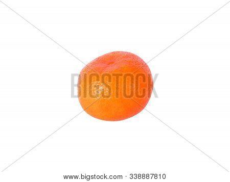 Perfect Mandarin Isolated On White Background. Juicy And Fresh Mandarine For Ads