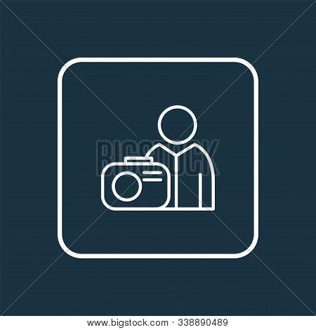 Photograph Icon Line Symbol. Premium Quality Isolated Photographer Element In Trendy Style.