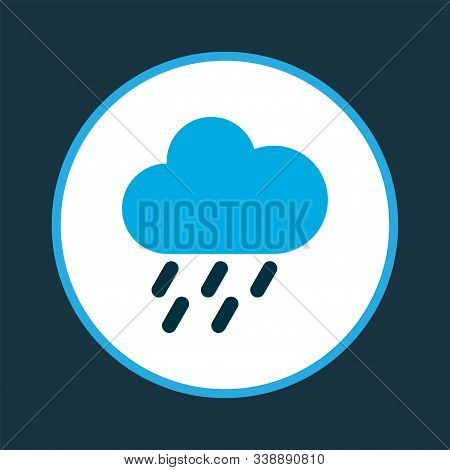 Drizzle Icon Colored Symbol. Premium Quality Isolated Rainstorm Element In Trendy Style.