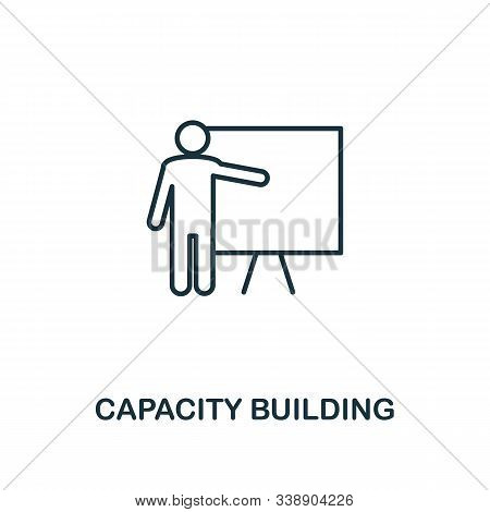 Capacity Building Icon. Line Style Element From Business Strategy Collection. Thin Capacity Building