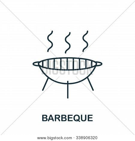 Barbeque Icon From Hobbies Collection. Simple Line Element Barbeque Symbol For Templates, Web Design