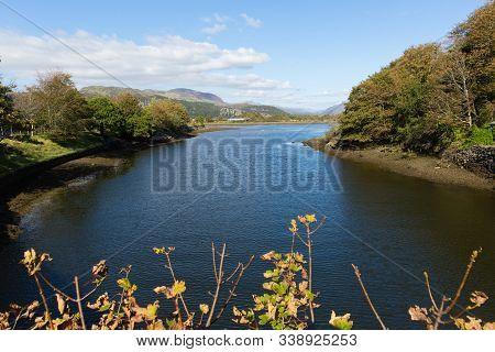 View From The Bridge High Street Porthmadog Wales Near Snowdonia National Park