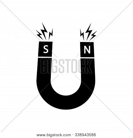 Vector Illustration Of Simple Magnet Icon Design. Isolated.