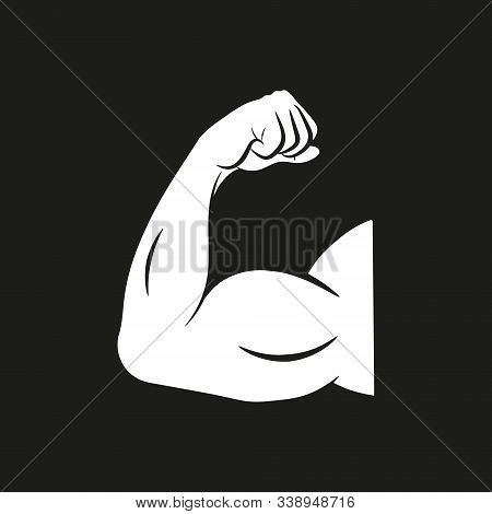 Biceps Arm Curl Vector Icon Design. Isolated.
