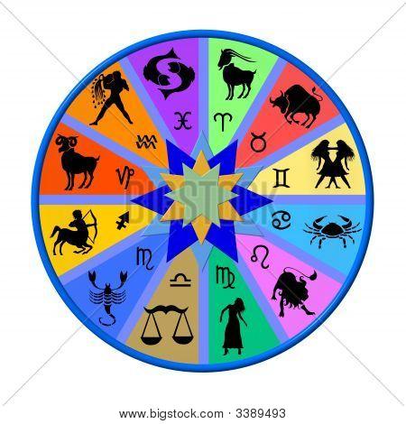 Colored Zodiac Sign