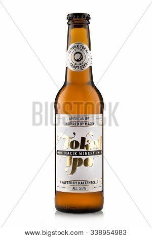 Bratislava, Slovakia, October 21, 2019: Tokaj Ipa, American Ipa Insired By Macik, Slovak Craft Beer,