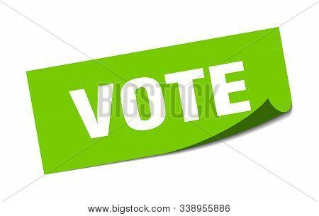 Vote Sticker. Vote Square Isolated Sign. Vote