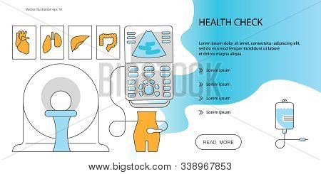 Web Page Design Templates For Online Medical Support, Health Cheak, Medical Services. Ultrasonograph