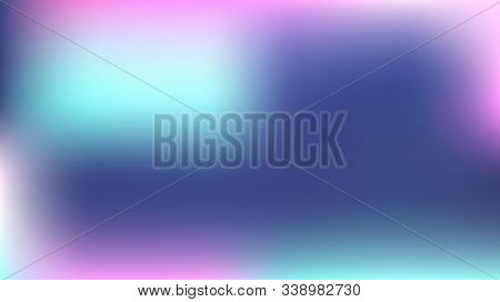 Gradient Mesh Vector Background, Hologram Contrast Overlay. Glitch Pink, Purple, Turquoise Dreamy Te