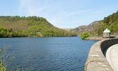 Garreg Ddu reservoir, Elan Valley, Powys Wales UK. poster