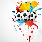 vector football place on colorful grunge ink splashes poster