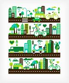 green city - environment and ecology poster