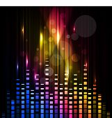 Abstract colorful shiny musical background with volume sign, can be use as flyer, banner or poster for discotheque, party and other events. EPS 10. Vector illustration. poster