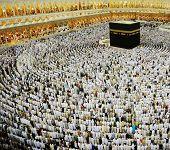 Kaaba Makkah Hajj Muslims poster