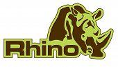 Vector illustration of rhino icon, illustration, vector poster