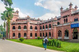 Dhaka,bangladesh - October 27,2019 - View At The Building Of University Of Dhaka. Dhaka Is The Capit