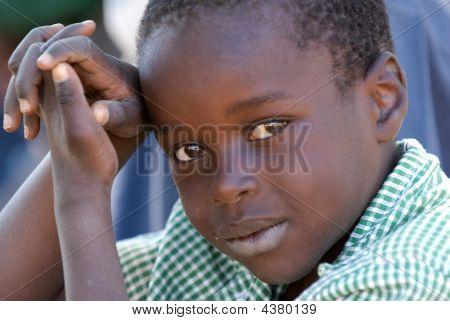 kleiner Junge in Simbabwe