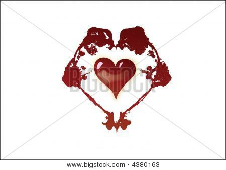 Illustration of a valentines heart