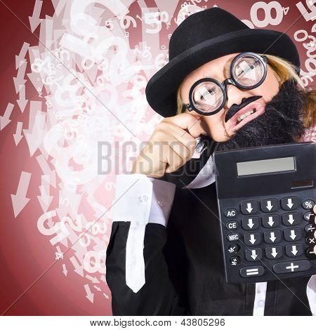 Business Person Crying During Financial Crisis