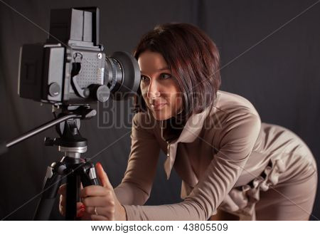 Lady Posing For Camera