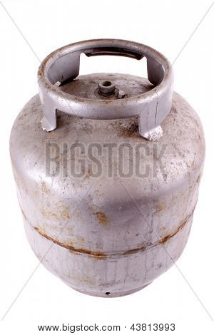 Photo of Rusty butane gas tank