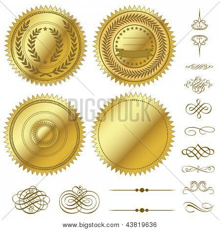Vector Gold Seal Set
