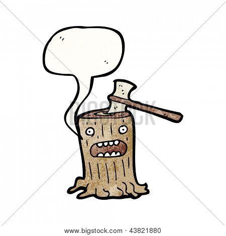 cartoon tree stump