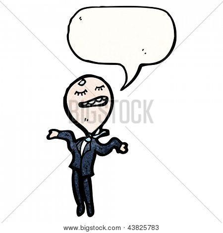 cartoon egotistical businessman