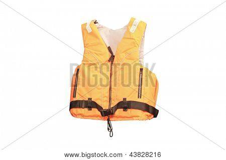 life jacket under the white background