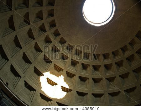 Pantheon in Roma - Italy. Old and amazing poster