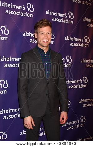 LOS ANGELES - MAR 20:  Barrett Foa arrives at the 21st Annual A Night at Sardi's to Benefit the Alzheimer's Association at the Beverly Hilton Hotel on March 20, 2013 in Beverly Hills, CA