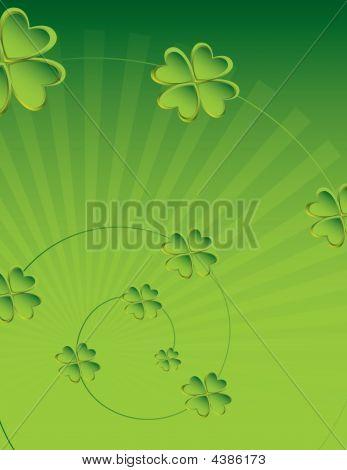 Four Leaf Clover Background 2
