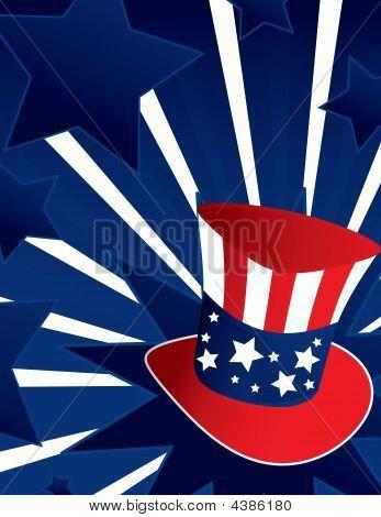 Uncle Sam Hat Background
