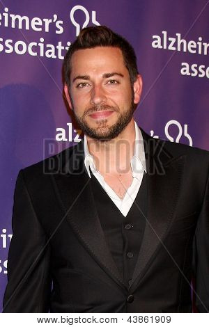 LOS ANGELES - MAR 20:  Zachary Levi arrives at the 21st Annual A Night at Sardi's to Benefit the Alzheimer's Association at the Beverly Hilton Hotel on March 20, 2013 in Beverly Hills, CA