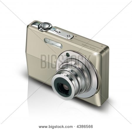 Digital Camera With White Background