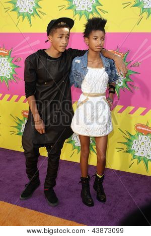 LOS ANGELES - MAR 23:  Jaden Smith, Willow Smith arrive at Nickelodeon's 26th Annual Kids' Choice Awards at the USC Galen Center on March 23, 2013 in Los Angeles, CA