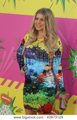 LOS ANGELES - MAR 23:  Fergie aka Stacy Ferguson arrives at Nickelodeon's 26th Annual Kids' Choice Awards at the USC Galen Center on March 23, 2013 in Los Angeles, CA