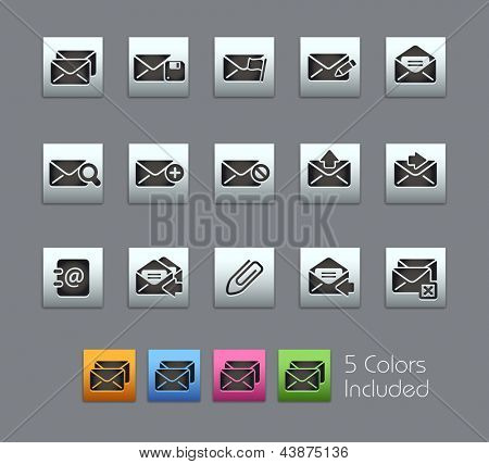 E-mail Icons // Satinbox Series -------It includes 5 color versions for each icon in different layers ---------