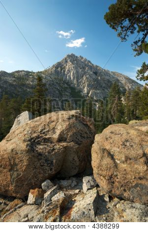 Boulders And Mountain