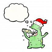 cartoon frog drinking beer poster