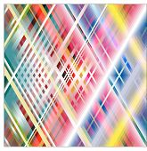 Abstract background crossing white red blue green and yellow striped (Vector) poster