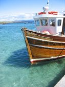 wooden boat, scotland poster