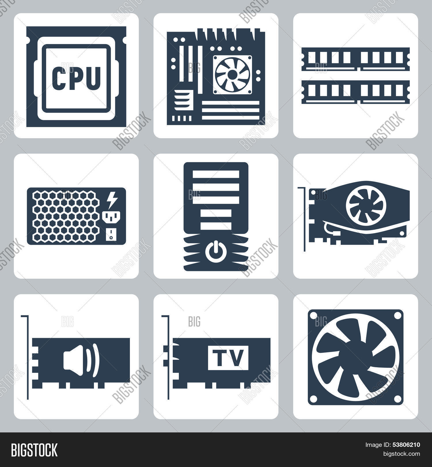 vector hardware icons vector photo free trial bigstock vector hardware icons vector photo