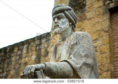 Statue Of Averroes In Cordoba